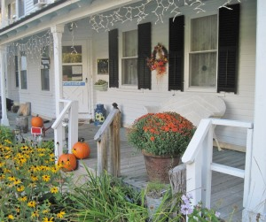 Our porch - all decked out for fall!